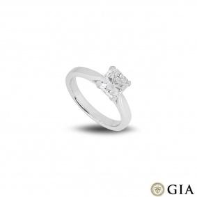 Platinum Radiant Cut Diamond Ring 1.51ct G/VS2